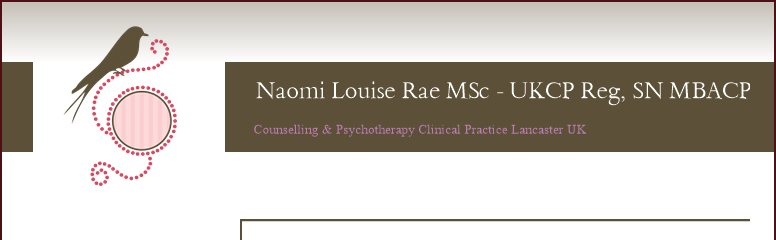 Naomi Louise Rae BA Hons PG Dip UKCP Reg  SNR MBACP Accredited - Counselling & Psychotherapy Clinical Practice